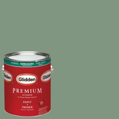 Glidden Premium 1 gal. #HDGG64 Luscious Moss Semi-Gloss Interior Paint with Primer