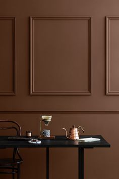Earthy paint colours | terracotta interiors trend | rust colours | jotun paint | contemporary paint colours | How To Use Colour In A Minimalist Home - Curate & Display