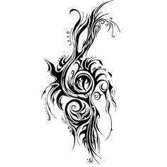 One of the best treble clef tattoo designs. You almost can't recognize it.