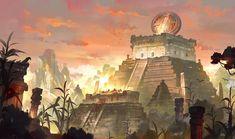 ArtStation - Mayan Civilization, Gao ZhingPing
