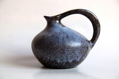 Vintage blue pitcher from the 60s, made by Ruscha (Germany). Just look at that gorgeous shape! $120