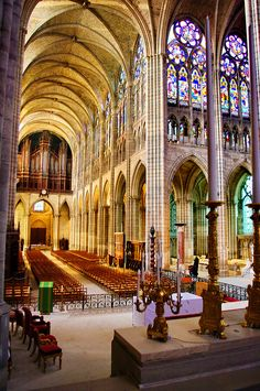 Greater Paris, Saint-Denis Basilica, the burial place of the French Kings, with nearly every king from the 10th to the 18th centuries being buried there, as well as many from previous centuries