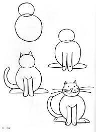 Resultado De Imagen Para Dibujos A Lapiz Faciles Paso A Paso Como Dibujar Animales Faciles Como Dibujar Animales Como Dibujar Un Gato