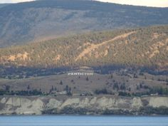 "The Munson Mountain ""Penticton"" sign in Penticton, BC"