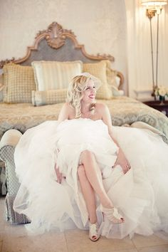 Love her curls!  Photography By / http://maggieharkov.com,Floral Design By / http://narcissusflorals.com