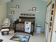 Check out this BabyCenter photo contest: Nursery Design  --- I really like the name/letter's in that tiny space on the wall, I've never seen it done that way before.