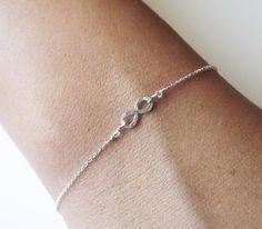 $25.00 Hammered Sterling Infinity Bracelet  Infinity by BellatrinaJewelry