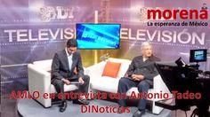 Audio de la entrevista a #AMLO,  presidente del Consejo Nacional de #MORENA, por Antonio Tadeo en Diario del Istmo Televisión.