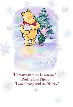 Disney Winnie the Pooh A Season of Merry Christmas Card Piglet Winnie The Pooh, Winnie The Pooh Christmas, Winnie The Pooh Quotes, Pooh Bear, Disney Winnie The Pooh, Eeyore, Disney Christmas, Christmas Time, Christmas Cards
