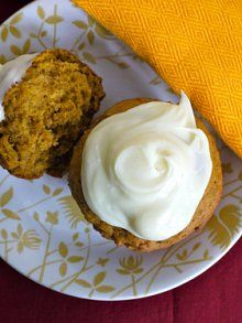 Pumpkin muffins with cream cheese frosting: These are pretty much the greatest things ever. Very kid-friendly, and they freeze well.