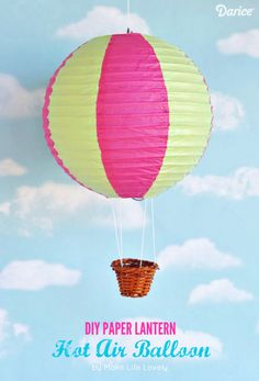 There's something magical about a hot air balloon soaring in the sky. It's easy to bring that beauty in your home with these paper lantern hot air balloons!