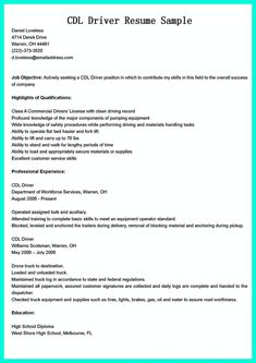 School Bus Driver Resume Nice Simple But Serious Mistake In Making Cdl Driver Resume Check