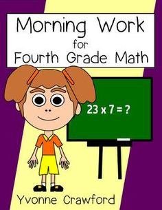 Morning Work Fourth Grade Math Common Core $