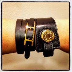 Hermes + Hermes bracelet stack