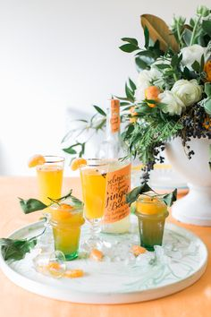 Recipe :: A Pair of Citrus & Ginger Holiday Cocktails | coco kelley | Bloglovin'