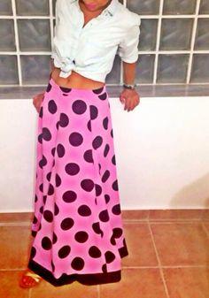 Stylish polka skirt!!!!
