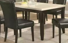 Dining Table with Cream Marble Top in Dark Cappuccino Finish by Coaster Home Furnishings, http://www.amazon.com/dp/B0062CI2EQ/ref=cm_sw_r_pi_dp_H9bGrb129P9P3