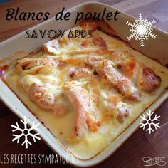 Blancs de poulet savoyards - Les recettes sympatoches Often the chicken cutlets it ends in a slice w Brunch Recipes, Meat Recipes, Fall Recipes, Healthy Dinner Recipes, Crockpot Recipes, Breakfast Recipes, Chicken Recipes, Ketogenic Recipes, Chicken Cutlets