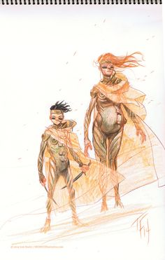 paul atreides and lady jessica from DUNE