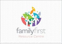 Family First Logo for sale by Melanie D: Bright, bold and modern logo design featuring family figures designed in a simple and clean style. Logos, Logo Branding, Branding Design, Kindergarten Logo, Earth Logo, Education Logo Design, Family Logo, Church Logo, People Logo