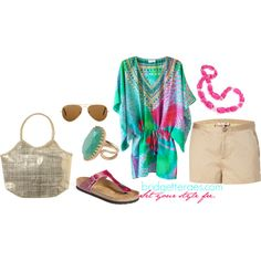 Vacation Look #19 by bridgetteraes on Polyvore featuring Juicy Couture, Birkenstock, Jane Norman, Forzieri, Stella & Dot and Ray-Ban
