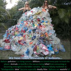 This is Why We Created Balloons Blow. These ladies have picked up thousands of balloons and other litter. Learn why balloon remains are especially dangerous to animals and sea life.