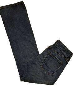Ann Taylor LOFT Original Boot Cut Size 0P Women's Dark Denim Trouser Jeans   #AnnTaylorLOFT #BootCut