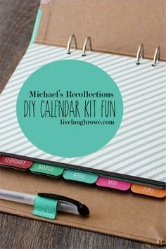 I want this!!! Great gift idea!! Michaels Recollection Calendar Kit Fun with livelaughrowe.com