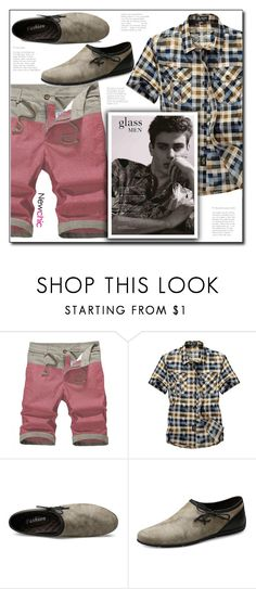 """""""Newchic (16/XI)"""" by dorinela-hamamci ❤ liked on Polyvore featuring men's fashion and menswear"""