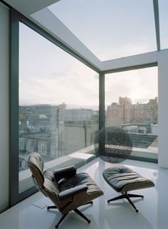 Eames Lounge Chair by Vitra in a Soho Apartment, London, by Dive Architects