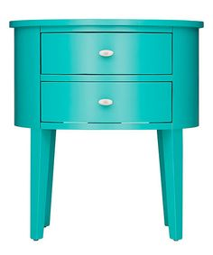 Loving this HomeBelle Marine Green Sanders Side Table on #zulily! #zulilyfinds