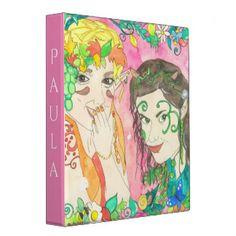 Pink Fairy Friends Binder Custom Name Nursery Paintings, Nursery Art, Summer Tunes, Moon Fairy, Fairy Queen, Butterfly Fairy, Blue Fairy, Moon Magic, Fairy Art
