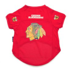 Chicago Blackhawks NHL Dog Jersey - Red XL #huntermfg #dogjersey #nhl #smalldogs #dogs #petjersey #hockey #doggiefanshop #blackhawks