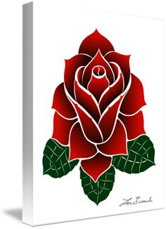 """Haida+Rose""+by+Lon+French,+Victoria+//+This+red+rose+is+not+a+traditional+part+of+Haida+culture+but+I+wanted+a+flower+that+went+well+with+the+Hummingbird+so+I+created+the+Haida+Rose+which+uses+the+basic+Haida+forms+to+illustrate+a+stylized+red+rose.+This+rose+symbolizes,+the+same+as+other+red+roses,+the+love,+bea...+//+Imagekind.com+--+Buy+stunning+fine+art+prints,+framed+prints+and+canvas+prints+directly+from+independent+working+artists+and+photographers."