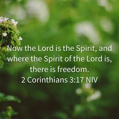 2 Corinthians Now the Lord is the Spirit, and where the Spirit of the Lord is, there is freedom. Prayer Scriptures, Prayer Quotes, Bible Quotes, Word Of The Day, Word Of God, Sunday Bible Verse, Spiritual Thoughts, Morning Prayers, Favorite Bible Verses