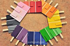 match the clothes pin colors to the paint chip colors Preschool Colors, Preschool Age, Preschool Classroom, Preschool Crafts, Kindergarten, Learning Activities, Preschool Activities, Color Montessori, Kids Education