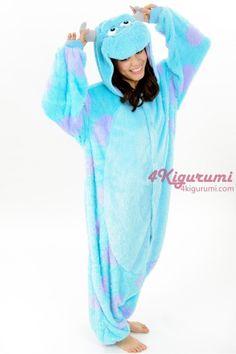 Monsters Inc. James P. Sullivan(Sulley) Onesie Kigurumi - 4kigurumi.com  http://www.4kigurumi.com/monsters-inc-james-p-sullivan-onesie-sulley-onesie-kigurumi-pajamas