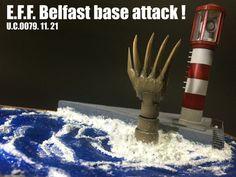 Belfast Base Attack Diorama by October   Gundam Century