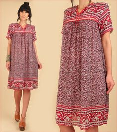 ViNtAgE 70's Indian Cotton Dress // INDIA by hellhoundvintage