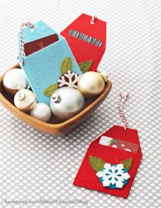 Stitch a cache of felt gift-card holders so you're prepared for gift-giving emergencies. (Designer: Clara Uribe, @Clara Uribe ) for instructions, purchase your digital issue here: http://www.zinio.com/www/browse/issue.jsp?skuId=416279179&prnt=&offer=&categoryId=
