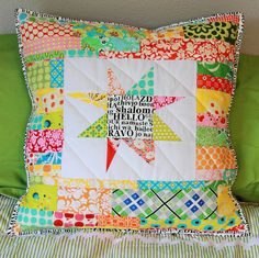 "HAPPY BIRTHDAY ERIN | Blogged I made this 22""x 22"" pillow fo… 