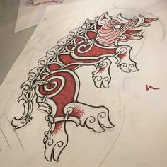 "26 Likes, 1 Comments - Peter Madsen (@blackhandnomad) on Instagram: ""War-boar commission for a Swiss client. Sadly i will not get to tattoo this one. Do not copy, the…"""
