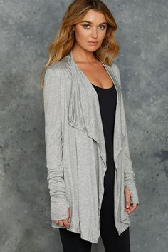 Lazy Days Grey Long Cardigan - CAPPED PRESALE (AU $60AUD) by BlackMilk Clothing
