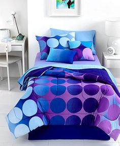 Dot Allure 4 Piece Queen Sheet Set  This would be great for my daughter. She loves blue.
