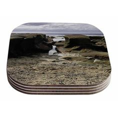 East Urban Home Stones Leading To Ocean by Nick Nareshni Coaster