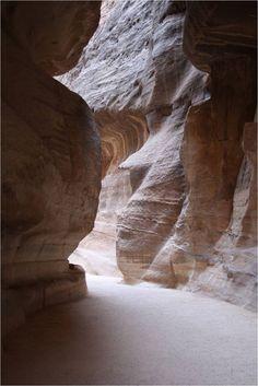 """The Siq (""""Shaft"""") in Petra, Jordan"""