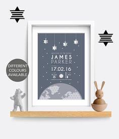 Birth print. Birth details print. Birth poster. Baby name