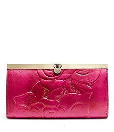 Patricia Nash Rose Tooled Cauchy Wallet