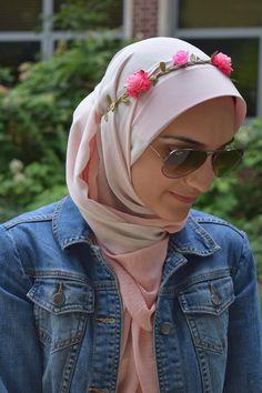A Day In The Lalz: Flower Crown Lalz, Fashion, Maxi, Pink, Flower Crown, Hijab, Velascarves, maxi, Hijabi, Modesty Fashion