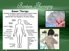 The principal benefit of Bowen Therapy is the often rapid and long term or permanent remission from pain, reduced stress, greater mobility and improved physical and emotional quality and enjoyment of life. Additional benefits can include increased energy, improvement in the immune system, re balancing of the body, improved circulation, lymphatic drainage and detoxification. Read More http://www.mackaybodyrejuvenationcenter.com/bowentherapy.htm